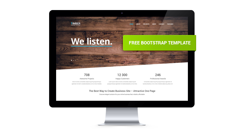 15 free responsive html5 and css3 website templates timber bootstrap template accmission Images