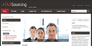 Business joomla 25 template wajeb Image collections
