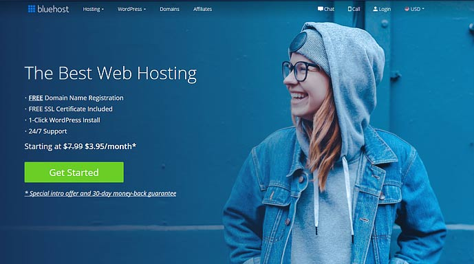 bluehost for joomla websites